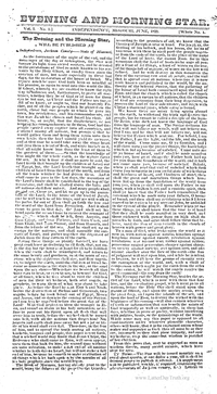 Evening And Morning Star - volume 1 (Kirtland reprint)