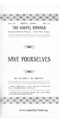 Titles save yourselves the gospel banner vol 6 no 3 1899 negle Image collections