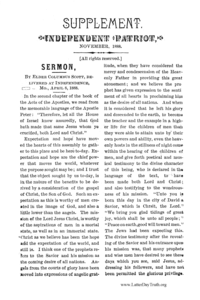 Titles sermon independent patriot supplement 1888 pdf negle Image collections